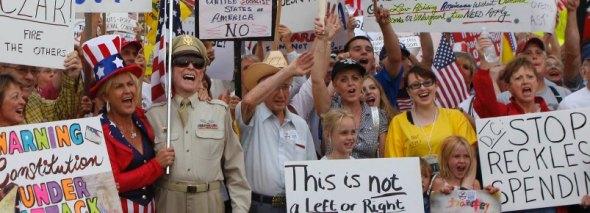 """Wettern über den Staat, profitieren aber überdurchschnittlich stark von ihm: """"Tea Party""""-Anhänger"""