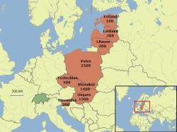 Einwanderung aus der EU-8 in die Schweiz 2011 (auf 100 gerundet).