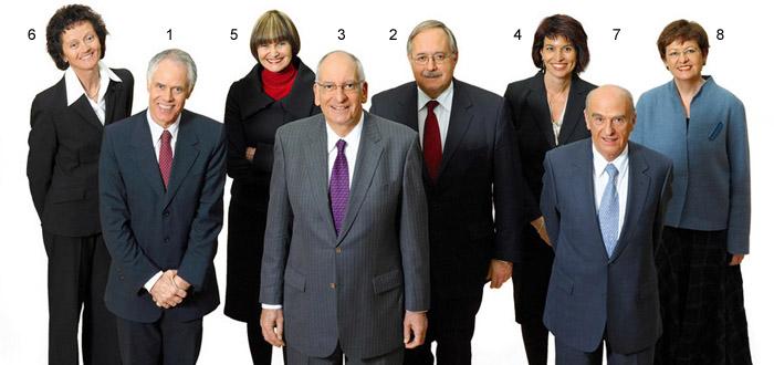 Die Sieger der Abstimmung um die Ausdehnung der Personenfreizügigkeit auf Rumänien und Bulgarien: Der Bunderat von 2008.