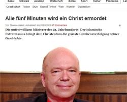 Für die BaZ offensichtlich ein zuverlässiger Experte: Der verurteilte Rechtsextremist Karl-Michael Merkle alias Michael Mannheimer.