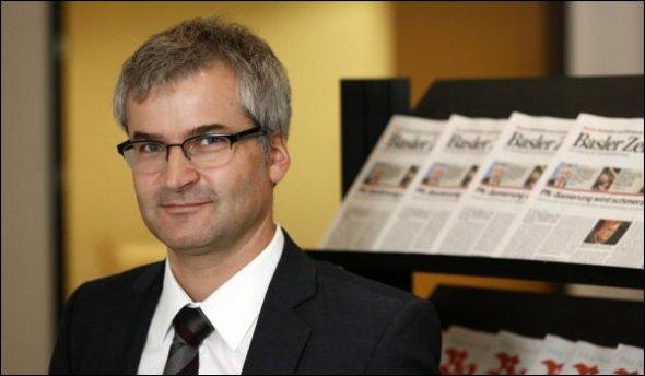 Baut die BaZ-Redaktion gezielt rechtskonservativ um: BaZ-Chefredaktor Markus Somm, früher stellvertretender Chefredaktor bei der Weltwoche.