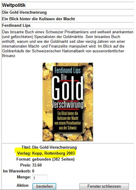 Goldverschwörung